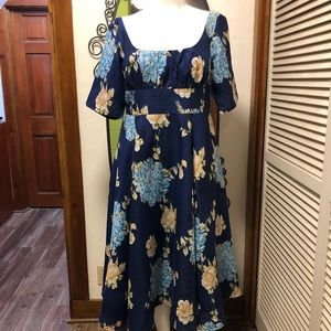 New eShatki Navy Floral Dress 18W